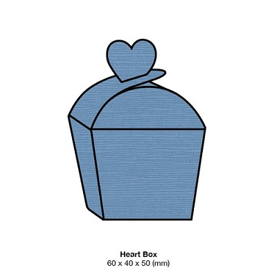 Zsa Zsa Heart Box 198gsm Denim