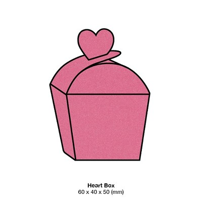 Glamour Puss Heart Box 285gsm Hot Hot