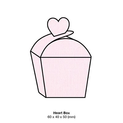 Coco Linen Heart Box 170gsm Petite Pink
