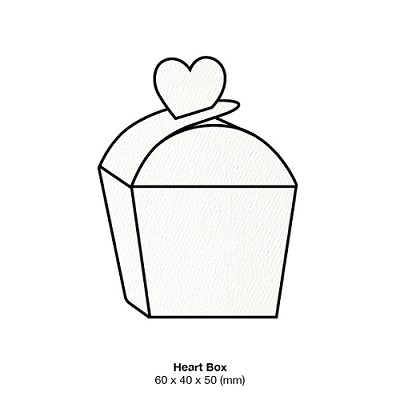 Versa Felt Heart Box 216gsm Brilliant White