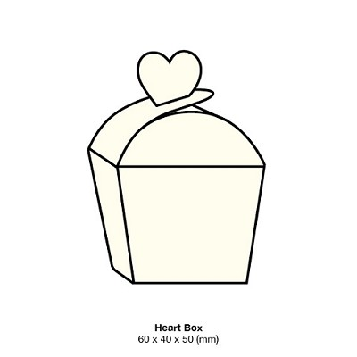 Marshmallow Heart Box 261gsm Warm Ivory