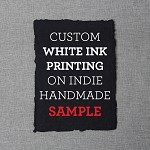 SAMPLE White Ink Printing - Indie Handmade