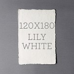 Indie Handmade 120x180 Flat Card Lily White