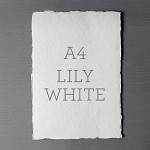Indie Handmade A4 Flat Card Lily White