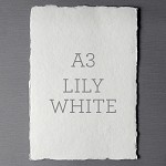 Indie Handmade A3 Flat Card Lily White