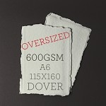 OVERSIZED A6 115x160mm - Indie Handmade Dover 600GSM