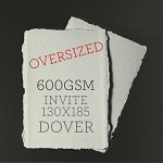 OVERSIZED INVITE 130x185mm - Indie Handmade Dover 600GSM