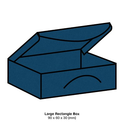 Bloom Large Rectangle Box 270gsm China Blue