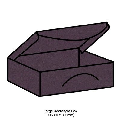 Eco Grande Large Rectangle Box 308gsm Mulberry