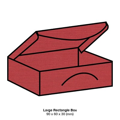 Zsa Zsa Large Rectangle Box 198gsm Chilli