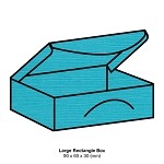 Zsa Zsa Large Rectangle Box 198gsm Tiffany