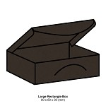 Gmund Colors Large Rectangle Box 300gsm Chocolate-37