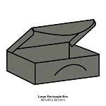 Gmund Colors Large Rectangle Box 300gsm Slate Grey-57