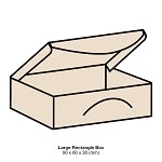 Woodland Large Rectangle Box 300gsm Buttermilk