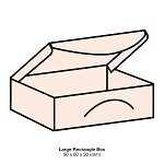 Woodland Large Rectangle Box 300gsm Soft Peach