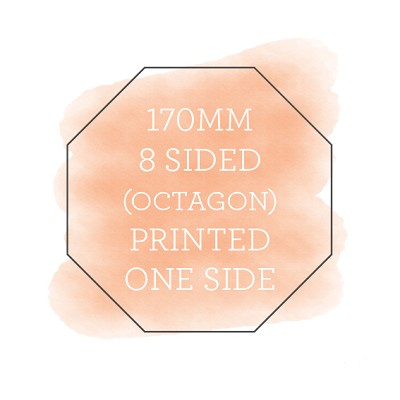 170 Printed Flat Octagon Single Sided (COPY)