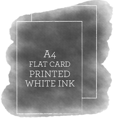 A4 Printed Flat Card White Ink