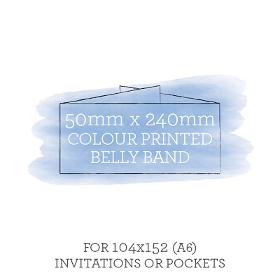 Printed Belly Band 50mmx240mm For 104x152 Invitations or Pockets