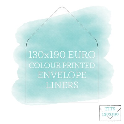 Colour Printed Envelope Liner for 130x190 Euro Flap Envelopes