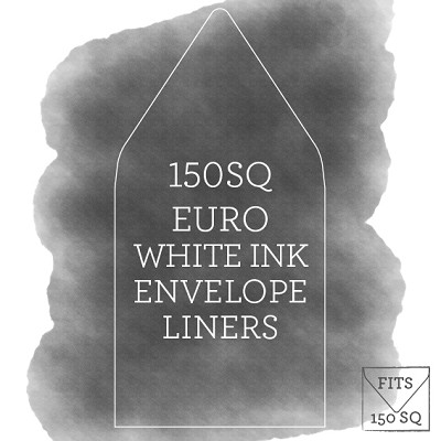 Printed White Ink Envelope Liner for 150x150 Euro Flap Envelopes