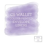 Colour Printed Envelope Liner for C5 Wallet Envelopes