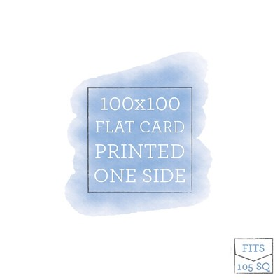 100x100 Printed Flat Card Single Sided