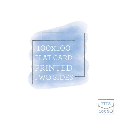 100 x 100 Printed Flat Card Double Sided