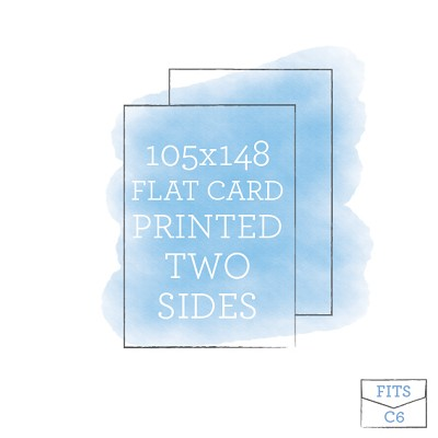 105 x 148 Printed Flat Card Double Sided