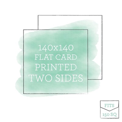 140x140 Printed Flat Card Double Sided