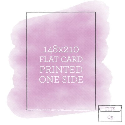 148 x 210 Printed Flat Card Single Sided