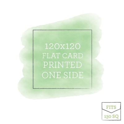 120x120 Printed Flat Card Single Sided