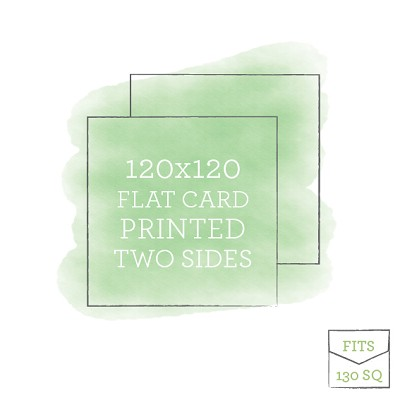 120x120 Printed Flat Card Double Sided