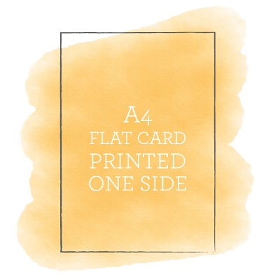 A4 Printed Flat Card Single Sided