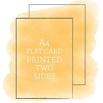 A4 Printed Flat Card Double Sided
