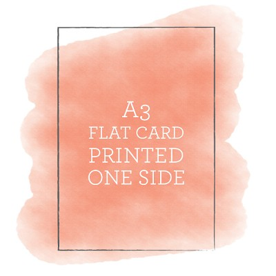A3 Printed Flat Card Single Sided