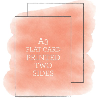 A3 Printed Flat Card Double Sided