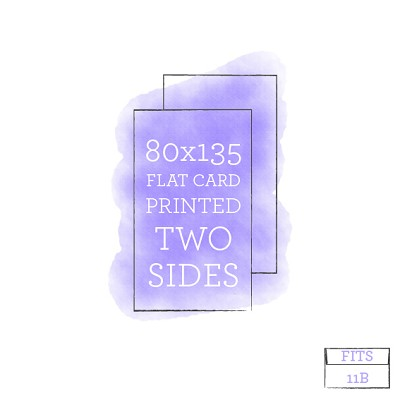 80x135 Printed Flat Card Double Sided