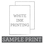 White Ink Printed Flat Card Sample