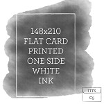 148x210 Printed Flat Card White Ink