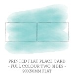 90x50 Flat Printed Place Card Double Sided