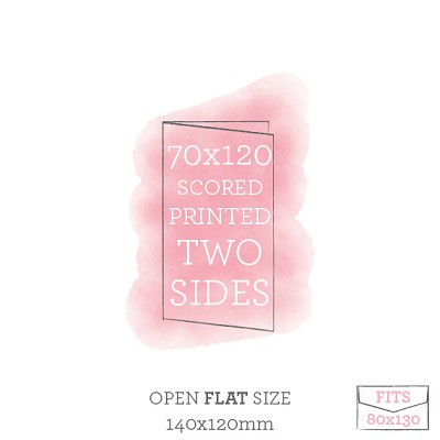 70x120 Printed Scored Card Double Sided