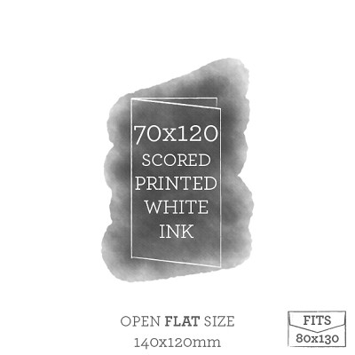 70x120 Printed Scored Card White Ink