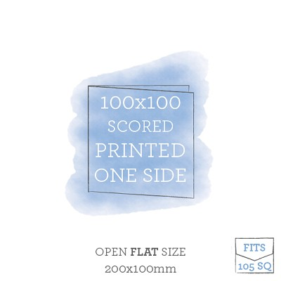 100x100 Printed Scored Card Single Sided