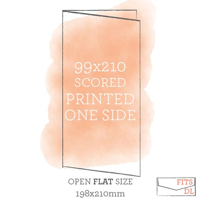 99x210 Printed Scored Card Single Sided