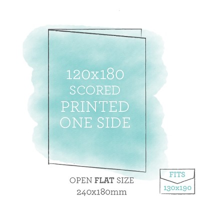 120x180 Printed Scored Card Single Sided
