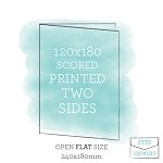 120x180 Printed Scored Card Double Sided