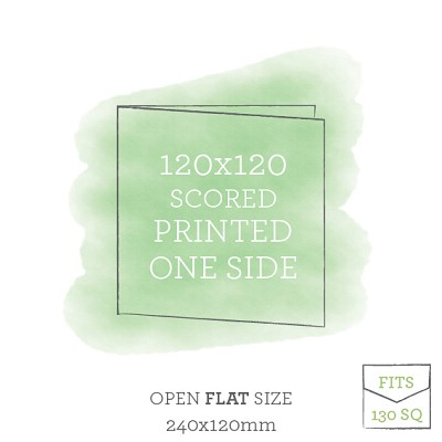 120x120 Printed Scored Card Single Sided