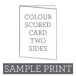 Colour Print Scored Card Double Sided Sample