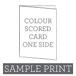 Colour Print Scored Card Single Sided Sample