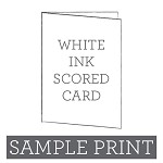 White Ink Printed Scored Card Sample